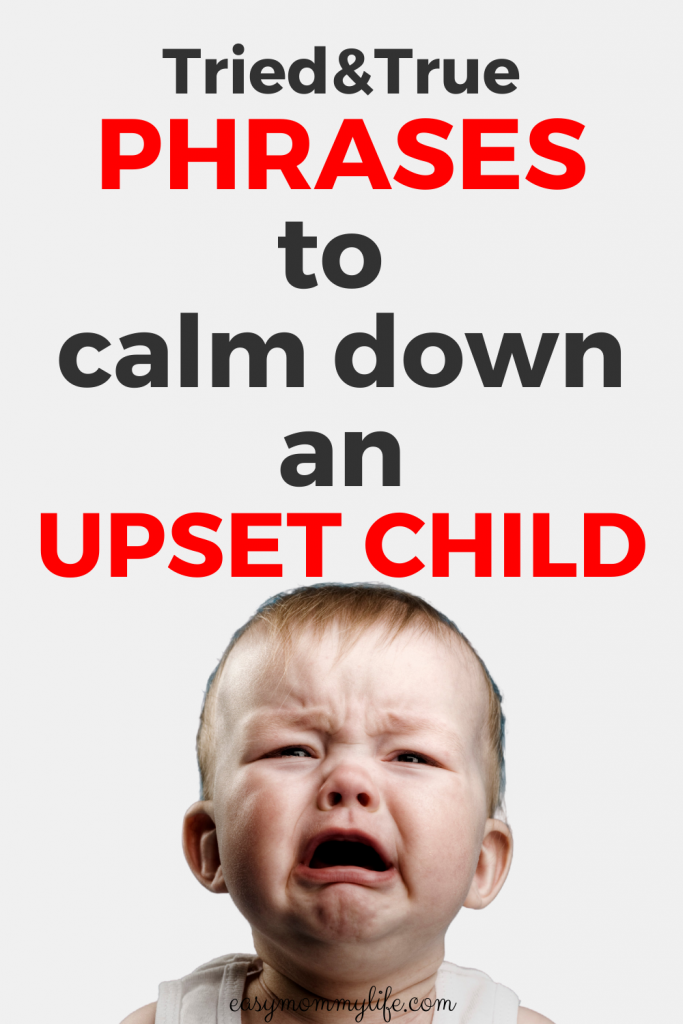 how to calm down an upset child