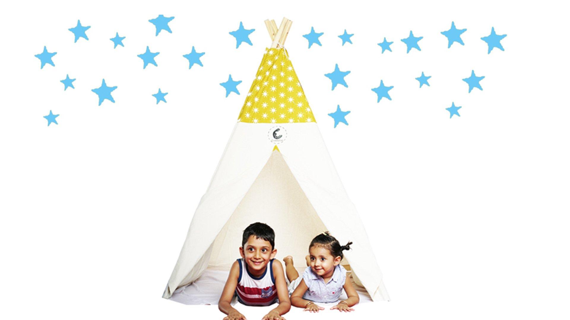 Children's teepee tent