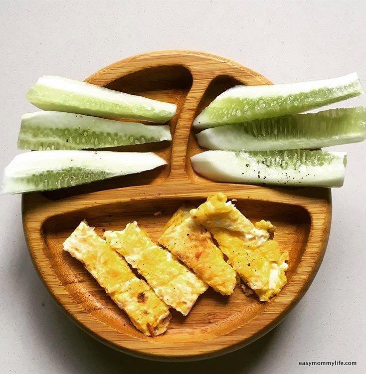 Teething foods-cucumbers