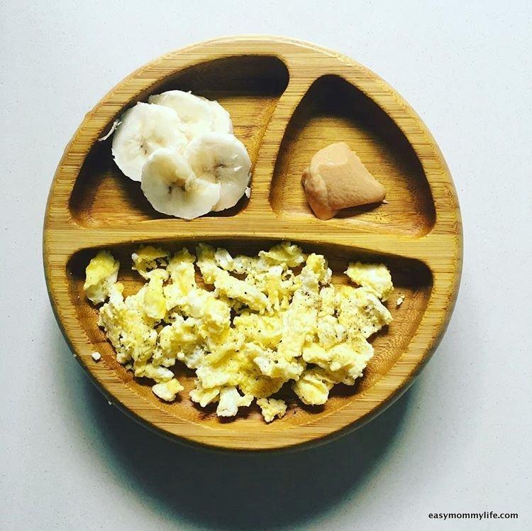 Teething foods-scrambled egg