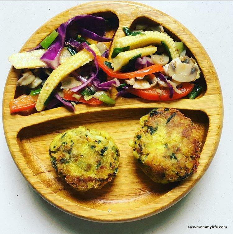 Teething foods-veggie patty