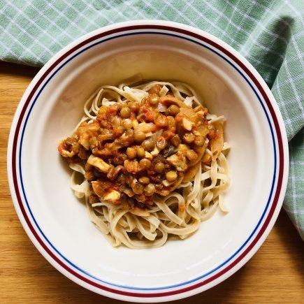Lentil bolognese - lentil recipes for toddlers