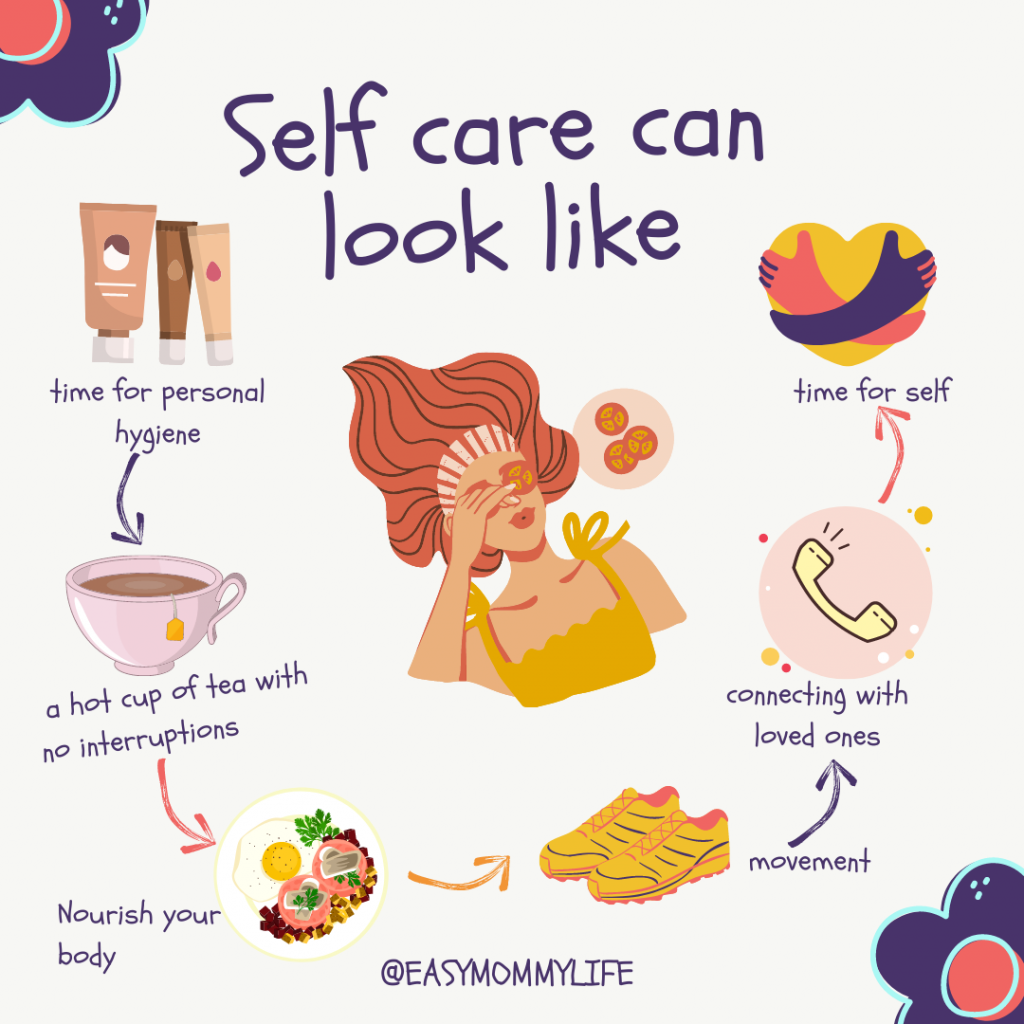 self care routine for tired moms