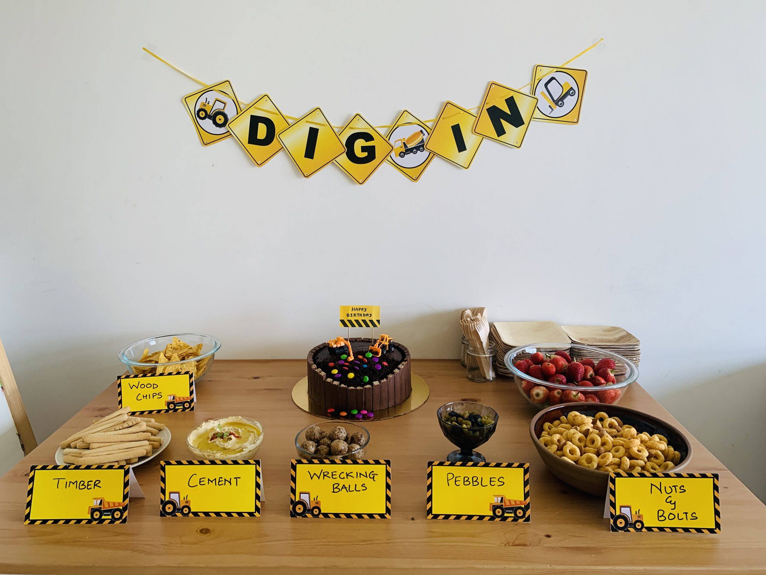 construction party food ideas