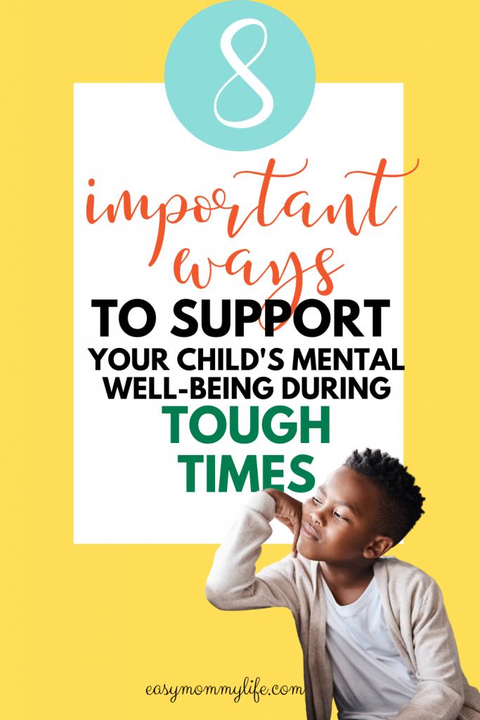 support children's mental well being
